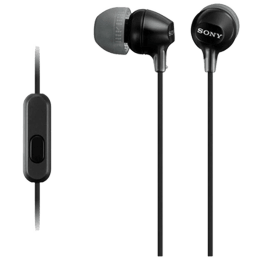 Sony In-Ear Wired Earphones with Mic (MDR-EX15AP/B, Black)_1