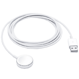 Apple 2 Meter USB 3.0 (Type-C) to Lightning Data Transfer Magnetic USB Cable (For Apple Watch, MX2F2ZM/A, White)_1