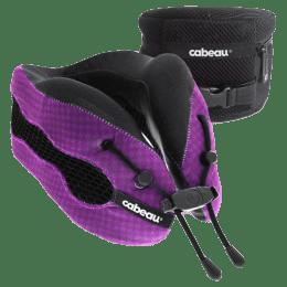 Cabeau Evolution Cool Travel Neck Pillow (TPEC2818, Black/Purple)_1