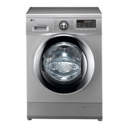 LG 7 Kg F1296QD24 Front Loading Washing Machine (Silver)_1