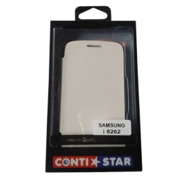 ContiStar PU Leather Flip Case Cover for Samsung Galaxy Core i8262 (White)_1