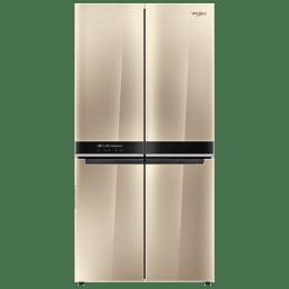 Whirlpool 677 L Side-by-Side Inverter Refrigerator (WS Quarto 677, Crystal Mocha)_1