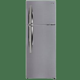 LG 308 L 3 Star Frost Free Inverter Double Door Refrigerator (GL-C322KPZY, Shiny Steel)_1