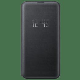 Samsung Galaxy S10e Aramid Fiber LED View Wallet Flip Case Cover (EF-NG970PBEGIN, Black)_1