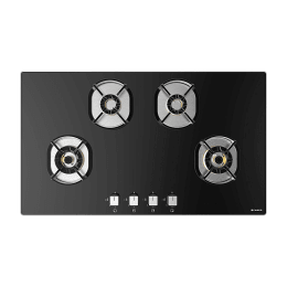 Faber 4 Burner Tufted Glass Built-in Gas Hob (Auto Ignition, Nexus HT904 CRS BR CI, Black)_1