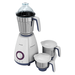 Philips Viva Collection 750 Watts 3 Jars Mixer Grinder (Auto Cut-Off Protection, HL7699/00, White/Grey)_1