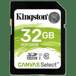 Kingston Canvas Select 32GB Class 10 Memory Card (SDS/32GBIN | Black)_1