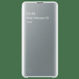 Samsung Galaxy S10 Clear View Flip Case Cover (EF-ZG973CWEGIN, White)_1
