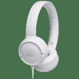 JBL Tune 500 Wired Headphones (White)_1