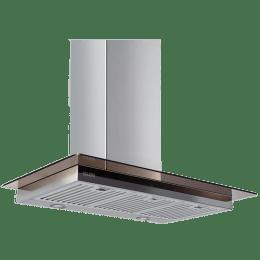 Glen 1250 m³/hr 60cm Baffle Filter Downdraft Hood Chimney (Touch Sensor, GL6062TS601250, Silver)_1