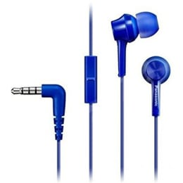 Panasonic In-Ear Wired Earphones with Mic (RP-TCM105E-A, Blue)_1