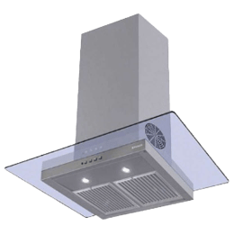 Faber Glassy 3D 1095m³/hr 90cm Wall Mount Chimney (Baffle Filter, 3D T2S2 LTW 90, Stainless Steel)_1