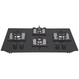 Elica Flexi Brass HCT 470 DX 4 Burners Built In Cooktop (Black)_1