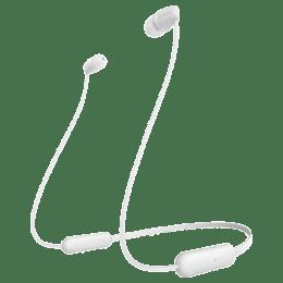 Sony Wireless Bluetooth Earphones (WI-C200, White)_1