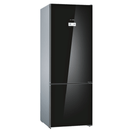 Bosch Serie 6 559 Litres 2 Star Frost Free Inverter Double Door Bottom Mount Refrigerator (Multi Air Flow Cooling Technology, KGN56LB41I, Black)_1
