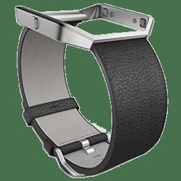 Fitbit Buckle Closure Leather Large Blaze Band (FB159LBBKL, Black)_1