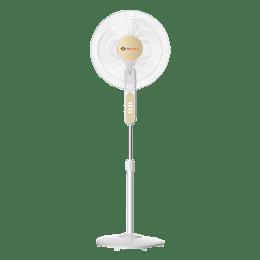 Bajaj Midea 40 CM 3 Blade Pedestal Fan (BP 07, White)_1
