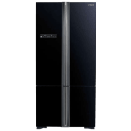 Hitachi 700 Litres Frost Free Inverter French Door Refrigerator (Aero-Care Veggie Compartment, R-WB800PND5 (GBK), Glass Black)_1