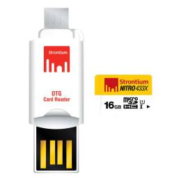 Strontium Nitro 433X 16GB Class 10 MicroSDHC/XC Memory Card (SRN16GTFU1T, White/Yellow)_1