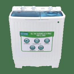 Croma 6.5 kg Semi Automatic Top Loading Washing Machine (CRAW2202, White)_1