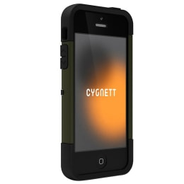 Cygnett Workmate Shock Absorbing Polycarbonate Back Case Cover for Apple iPhone 5 (CY0869CPWOR, Green)_1
