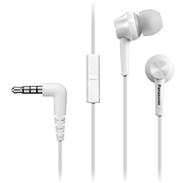 Panasonic In-Ear Wired Earphones with Mic (TCM105E, White)_1