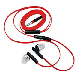 SoundLogic Wow Flat In-Ear Wired Earphones with Mic (Red/Black)_1