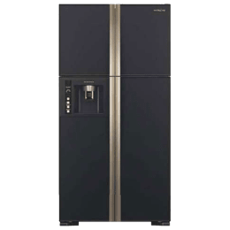 Hitachi 638 Litres Frost Free Inverter Side-by-Side Door Refrigerator (Eco Thermo Sensor, R-W720FPND1X, Glass Black)_1