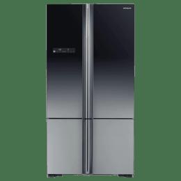 Hitachi 650 Litres Frost Free Inverter French Door Refrigerator (Tank Type Water Dispenser, R-WB730PND5-(XGR), Glass Gradation Grey)_1