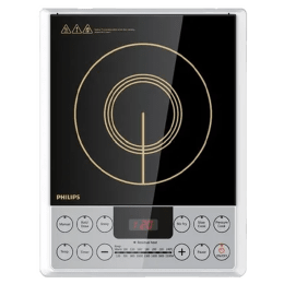 Philips Viva Collection 1 Burner 2100 Watts Induction Cooktop (Auto-Off Function, HD4929/01, Black)_1