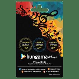 Hungama Music Prepaid Code - INR 269_1