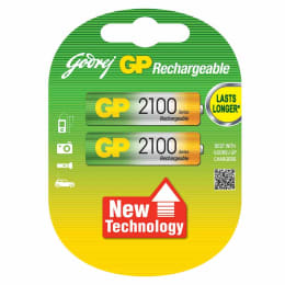 Godrej GP 2100 mAh AA Rechargeable Battery (Green/Yellow) (Pack of 2)_1