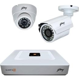 Godrej 1TB 4 Channel 720P Hybrid DVR CCTV Security Ki (SEHCCTV0100, White)_1