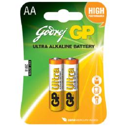 Godrej GP AA Ultra Alkaline Battery (15AU-U2, White/Yellow) (Pack of 2)_1