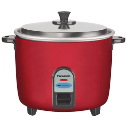 Panasonic 1 Litre SR-WA10 450 Watt Electric Rice Cooker (SR-WA10 (GE9), Burgandy)_1