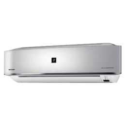 Sharp 2 Ton Inverter Split AC (AH-XP24MV, Copper Condenser, Silver)_1
