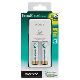 Sony Battery Charger with 2 Batteries (BCG34HW2KN/CEU8, White)_1