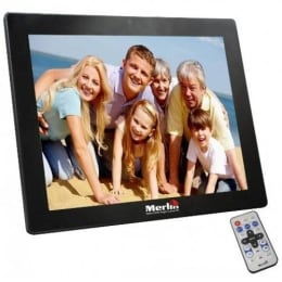 Merlin 38.11 cm Digital Photo Frame (MDFP15, Black)_1