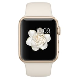 Apple Watch 38mm Gold Aluminium Case with Antique White Sport Band_1
