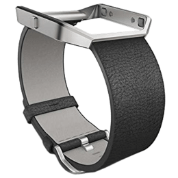 Fitbit Buckle Closure Leather Small Blaze Band (FB159LBBKS, Black)_1