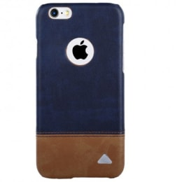 Stuffcool Vogue PU Leather Back Case Cover for Apple iPhone 6/6S (VGIP647-BLU, Brown/Blue)_1