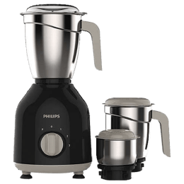Philips Daily Collection 750 Watts 3 Jars Mixer Grinder (Turbo Motor, HL7756/00, Black)_1