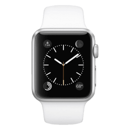Apple Watch 38mm Silver Aluminium Case with White Sport Band_1