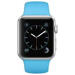 Apple Watch 38 mm Silver Aluminium Case with Blue Sports Band_1