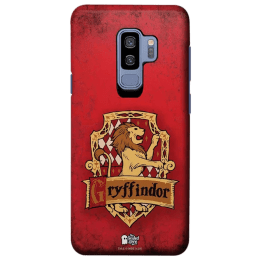 The Souled Store Harry Potter - Gryffindor Sigil Polycarbonate Mobile Back Case Cover for Samsung Galaxy S9 Plus (122089, Red)_1
