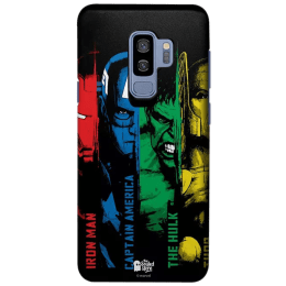 The Souled Store Avengers - Heroes Polycarbonate Mobile Back Case Cover for Samsung Galaxy S9 Plus (121968, Black)_1