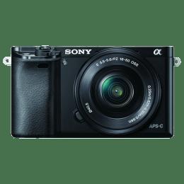 Gift - Sony 24.3 MP Mirrorless Camera (ILCE-6000L, Black)_1