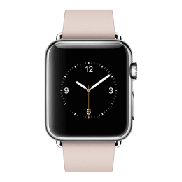 Apple Watch 38 mm Stainless Steel Case with Soft Pink Modern Buckle - Large (MJ392HN/A)_1