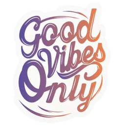 The Souled Store Good Vibes Only Sticker (Purple)_1