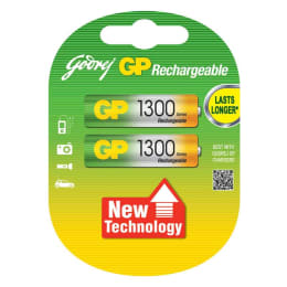 Godrej GP 1300 mAh Ni-MH AA Rechargeable Batteries (069T2M2B, As Per Stock Availability) (Pack of 2)_1